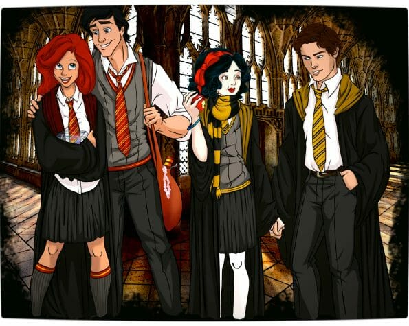 Vamers - Artistry - Mash-Up - 'Disney at Hogwarts' Imagines Disney Royalty as Harry Potter's Peers - Art by Eira1893 - Disney at Hogwarts 01