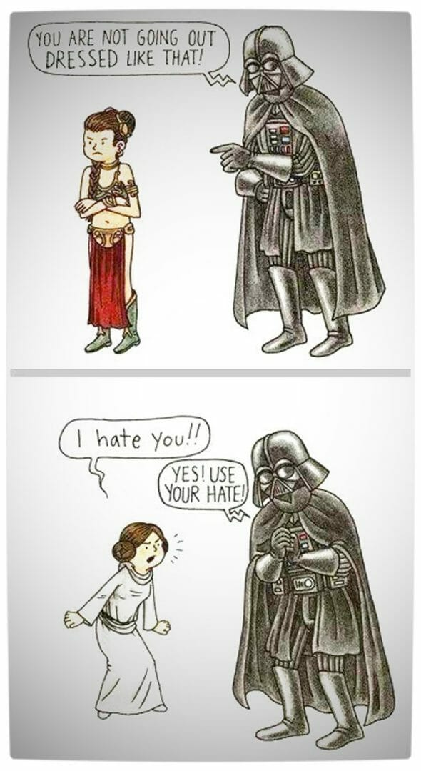 Vamers - Artistry - Vader Get Leia to Embrace the Dark Side