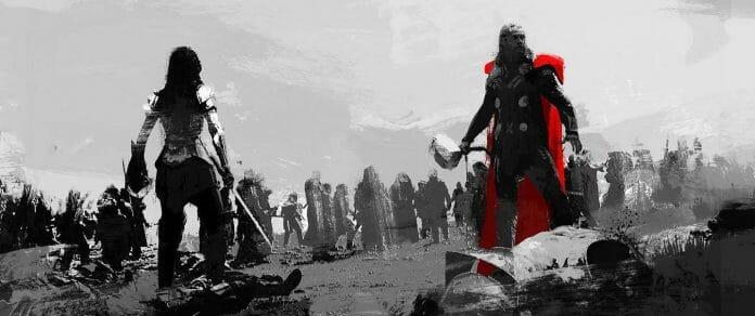 Vamers - Artistry - Thorsday - Enjoy the End Credits Artwork for 'Thor- The Dark World' on Thorsday - Battle