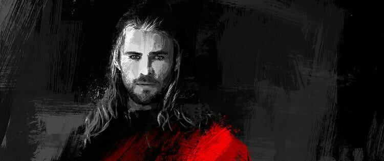 Vamers - Artistry - Thorsday - Enjoy the End Credits Artwork for 'Thor- The Dark World' on Thorsday - Thor Portrait