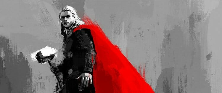 Vamers - Artistry - Thorsday - Enjoy the End Credits Artwork for 'Thor- The Dark World' on Thorsday - Thor