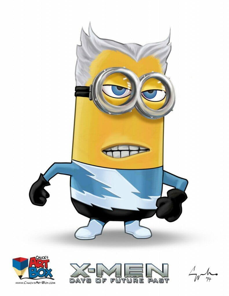 Vamers - Artistry - X-MINIONS Days of Future Past - Despicable Me Minions as X-MEN - Quicksilver