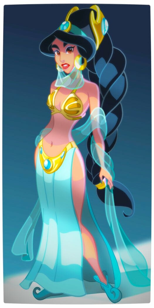 Vamers - Geekosphere - Artistry - Disney Princesses Transformed into Star Wars Sith and Jedi - Art by Pushfighter - Princess Jasmine as a Slave