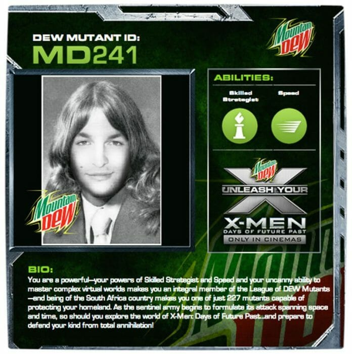 Vamers - Win With Vamers - Win X-Men- Days of Future Past Hampers with Vamers and Mountain Dew - Hans Haupt X-Gene
