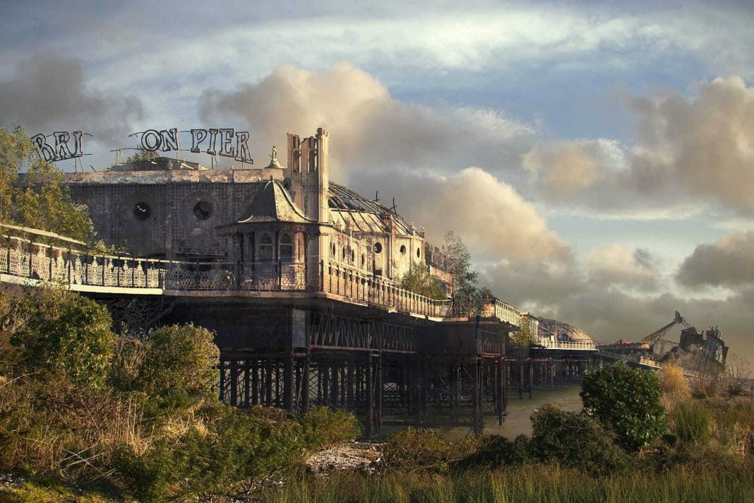 Vamers - Artistry - The World of The Last of Us- Envisioning a Post Apocalyptic Future - Brighton Pier Apocalypse