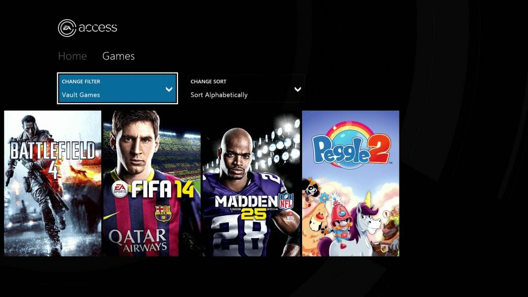 Vamers - FYI - Gaming - EA Access Subscription Gaming Service is Exclusive to Xbox One - EA Access Vault Games