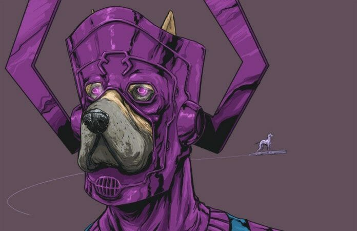 Vamers - Artistry - Fandom - Artist Josh Lynch Imagines Dogs as Superheroes from the Marvel Universe - Galactus
