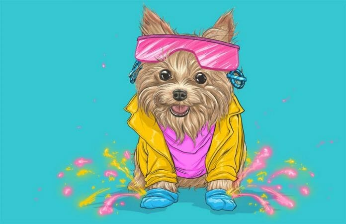 Vamers - Artistry - Fandom - Artist Josh Lynch Imagines Dogs as Superheroes from the Marvel Universe - Jubilee Mutant