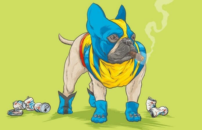 Vamers - Artistry - Fandom - Artist Josh Lynch Imagines Dogs as Superheroes from the Marvel Universe - Wolverine