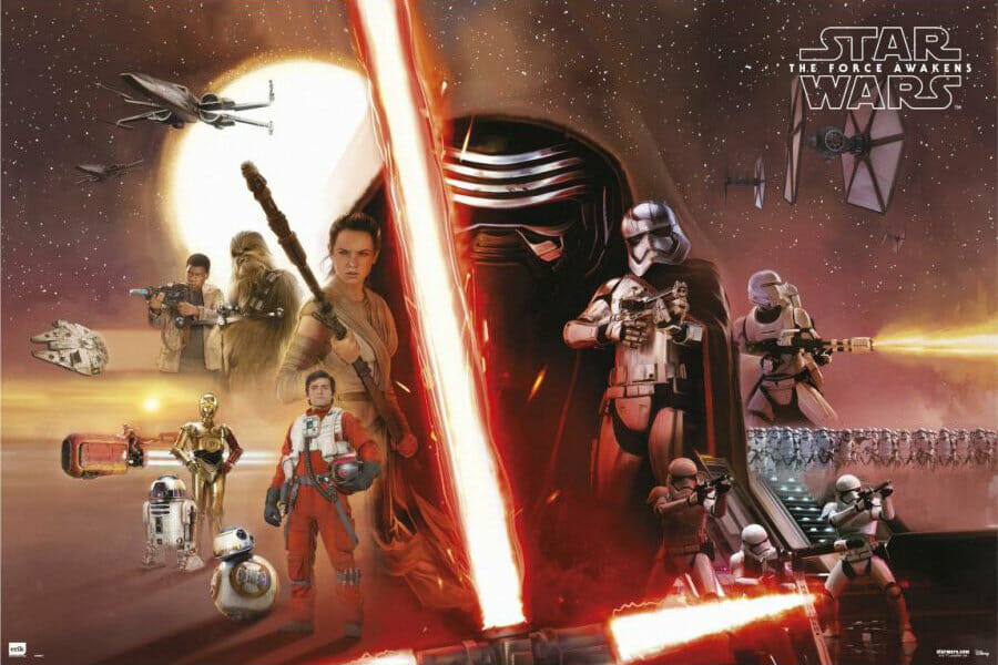 Vamers - FYI - Movies - Three New Posters for Star Wars- The Force Awakens - Classic Montage