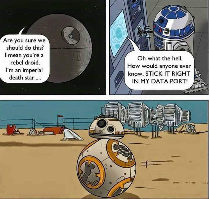 Vamers - Humour - Stick it in the port - Star Wars