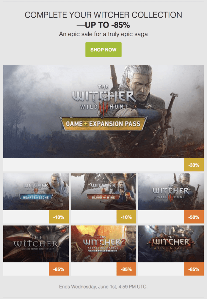 Vamers - FYI - Gaming - Entire Witcher Game Collection Now on Sale - Gog.com - Main