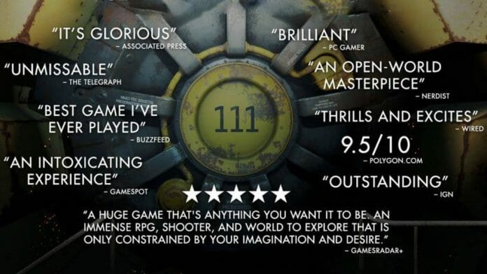 Vamers - FYI - Gaming - Fallout 4 Earned $750 Million at Launch - Accolades