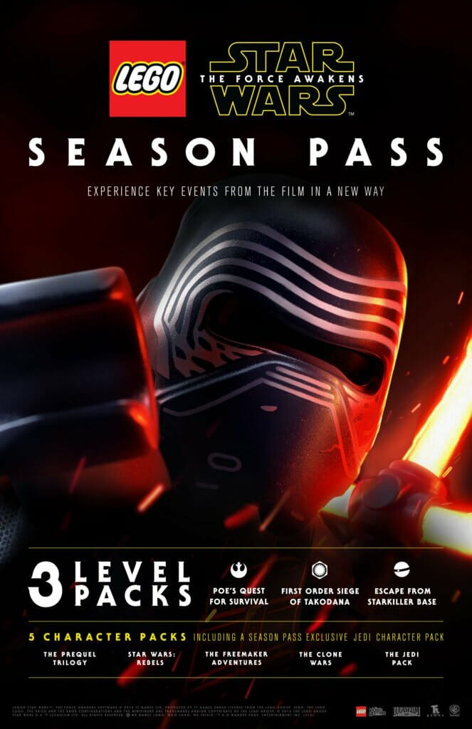 Vamers - FYI - Gaming - LEGO Star Wars The Force Awakens Season Pass Details - Info