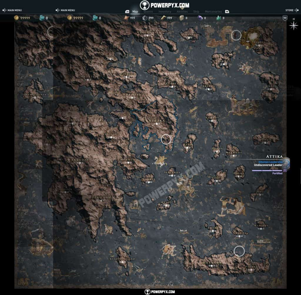 Assassin S Creed Odyssey Map Revealed It Really Is Big